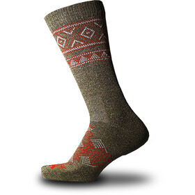 Thorlos Outdoor Traveler Crew Socks hazelnut/fire red